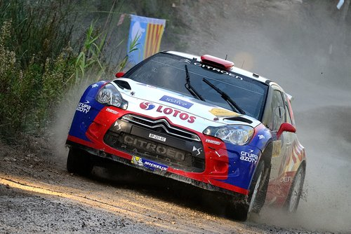 Robert Kubica in Rally car